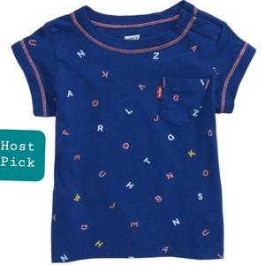 Alphabet Pattern T-shirt